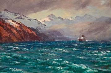 Image result for strait of magellan painting