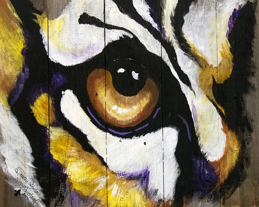 Lsu Tiger Eye Painting By Stacey Blanchard