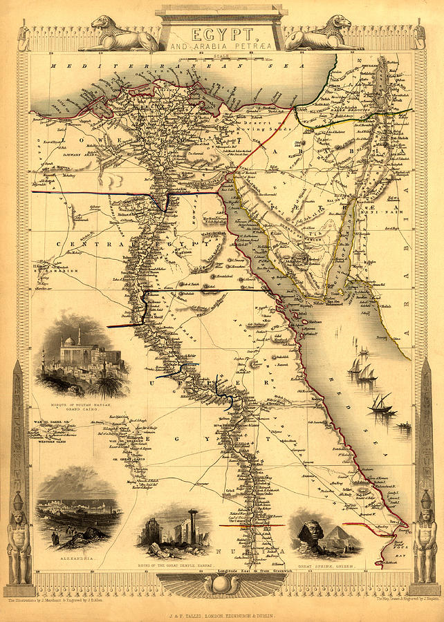 Map Of Egypt 1800 Photograph by Andrew Fare Map Of Egypt Photograph   Map Of Egypt 1800 by Andrew Fare