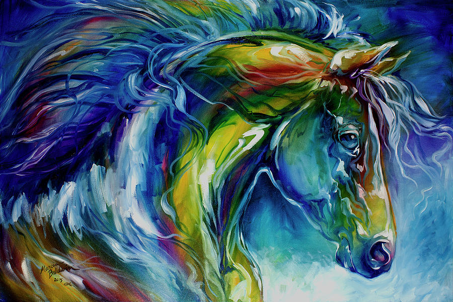 Midnight Run Equine Painting By Marcia Baldwin