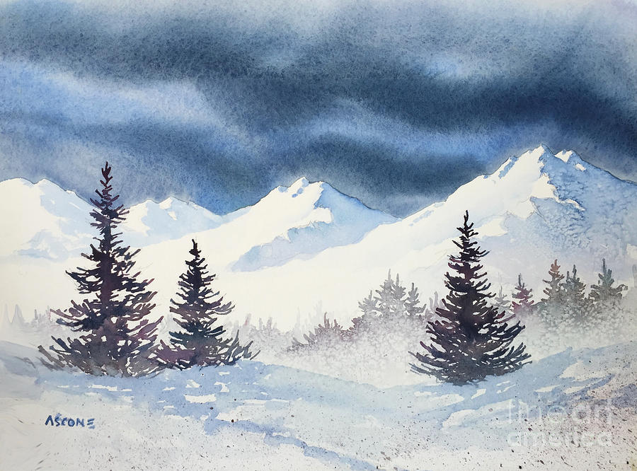 Mighty Mountains Painting By Teresa Ascone