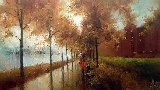 Moscow Autumn Painting by Igor Medvedev