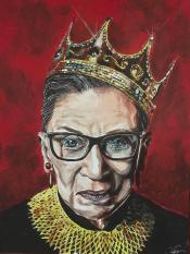 Notorious RBG Painting by Joel Tesch