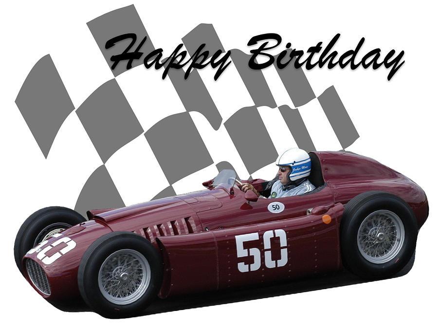 Racing Car Birthday Card 1 Photograph By John Colley