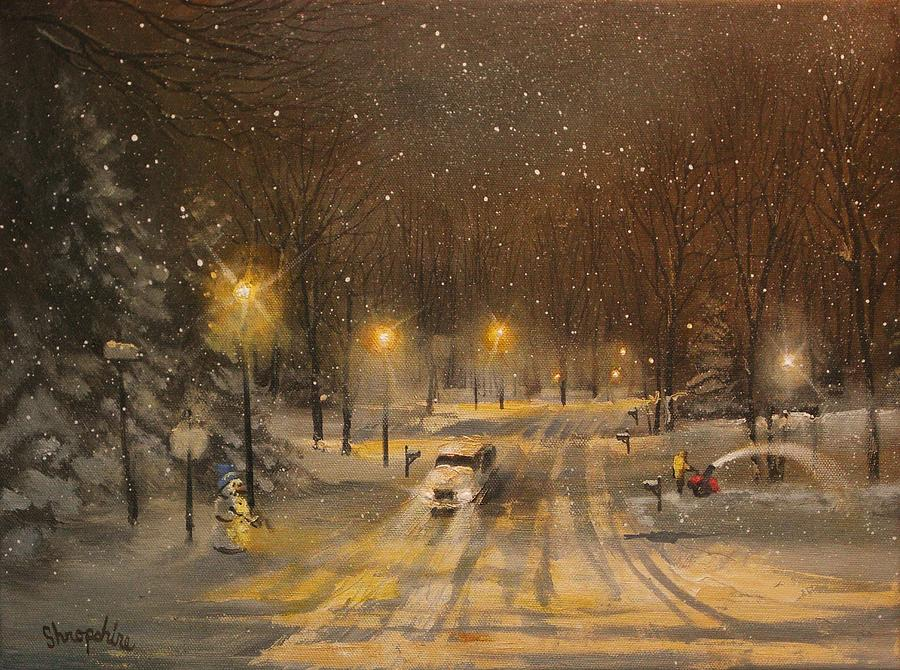 Snow For Christmas Painting By Tom Shropshire