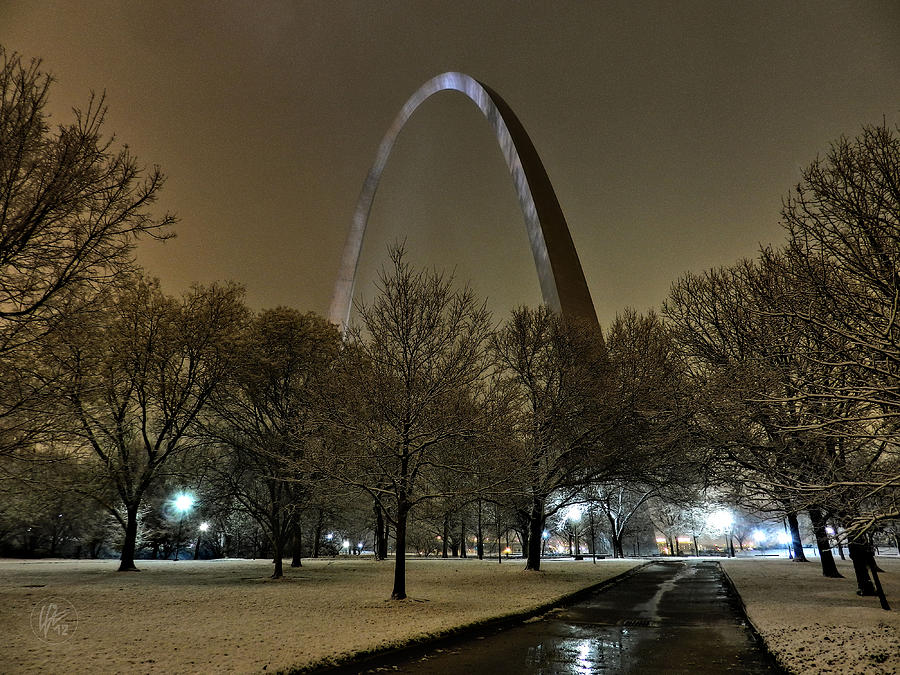 St Louis Winter At The Arch 002 Photograph By Lance Vaughn