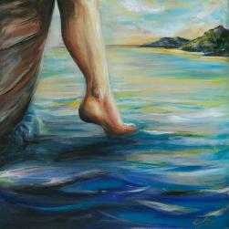 Step of Faith Painting by Pennie Mirande