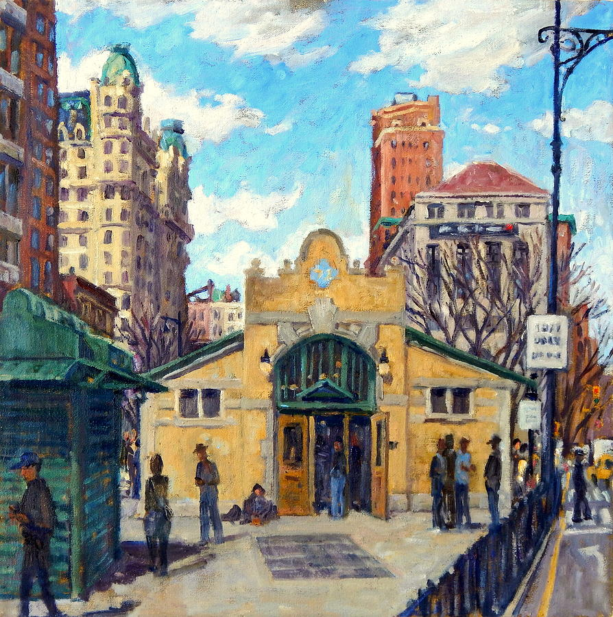 Subway At 72nd Street Nyc Painting by Thor Wickstrom Oil Painting   Subway At 72nd Street Nyc by Thor Wickstrom