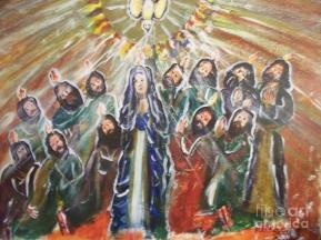 The Coming Of The Holy Spirit Painting by Seaux-N-Seau Soileau
