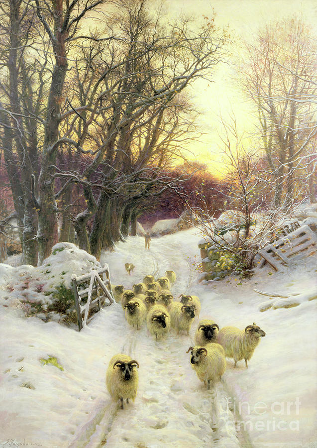 The Sun Had Closed The Winters Day Painting By Joseph