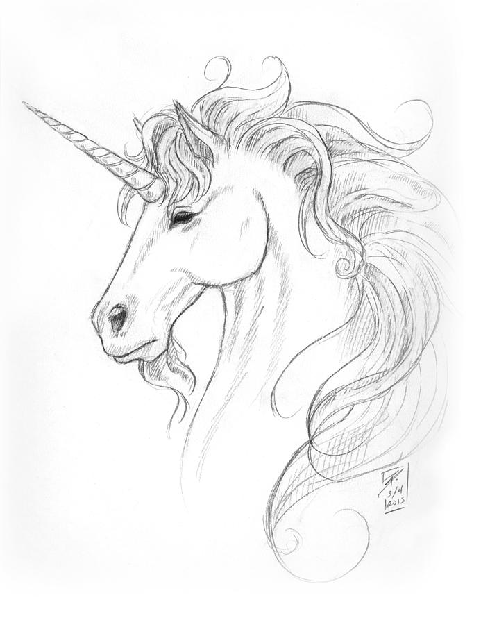 how to draw a realistic unicorn easy