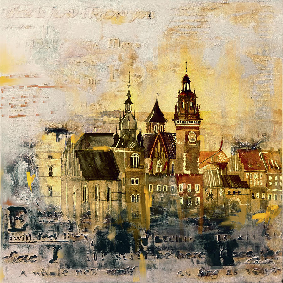 Wawel Castle Poland 194 1 Painting By Mawra Tahreem