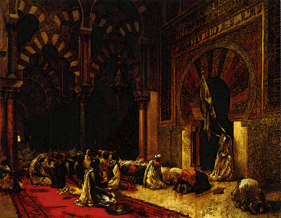 Weeks Edwin Lord Interior Of The Mosque At Cordova Digital Art by     Painting Digital Art   Weeks Edwin Lord Interior Of The Mosque At Cordova  by PixBreak Art