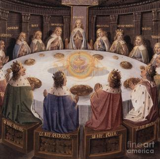 Arthurian legend, the knights of the round table Painting by European School
