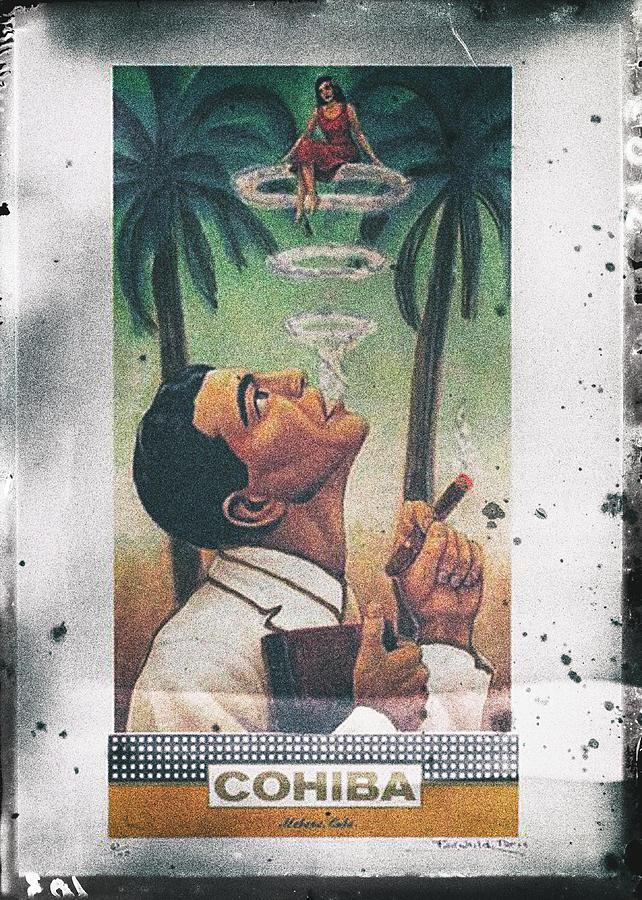 cohiba cigar vintage poster by benjamin dupont