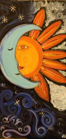 Mystical thought Painting by Karen Krueger