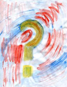 Question mark Painting by Tim Voigt