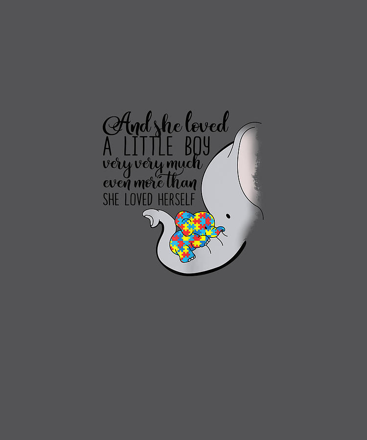 Download Womens She Loved A Little Boy Very Much Autism Elephant ...