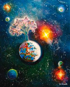 Birth of stars Painting by Anaelih Anna