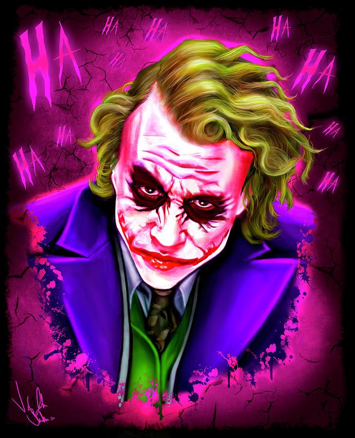 joker heath ledger by vinny john usuriello