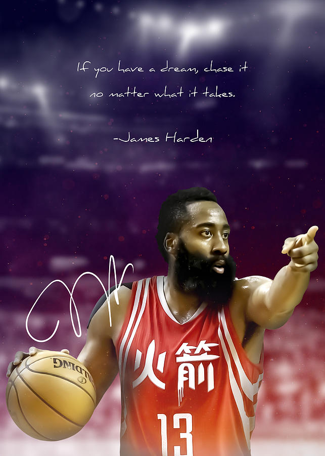 nba basketball poster the beard james harden by team awesome