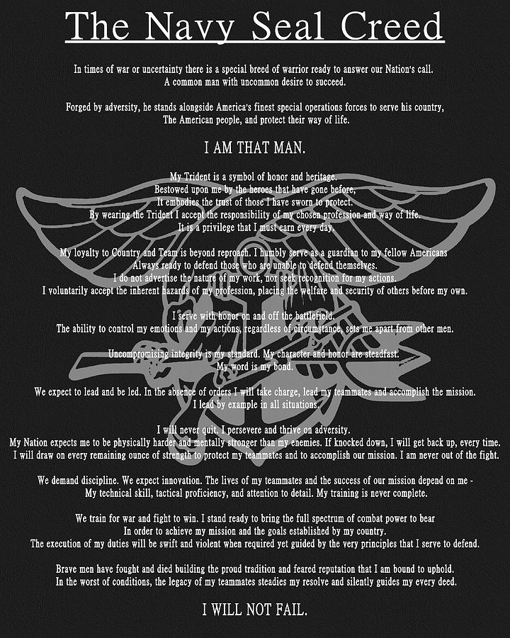 the navy seal creed by dan sproul