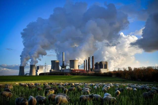 A coal-fired power plant in Germany. Developing nations emit most CO2 in the atmosphere. Image credit: SASCHA STEINBACH/EPA
