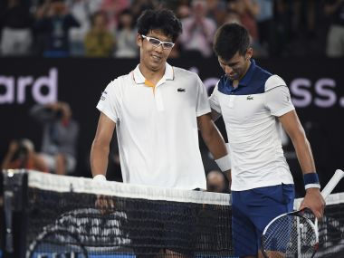 Image result for hyeon chung australian open 2018