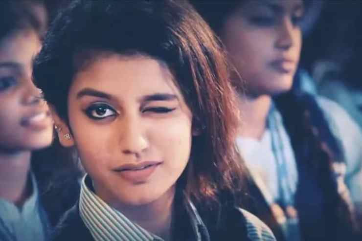 Priya Prakash Varrier in a still from Oru Adaar Love. YouTube