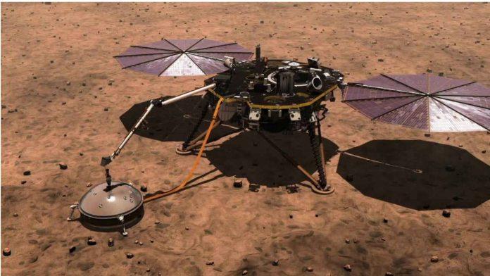 The InSight lander. Image courtesy: NASA