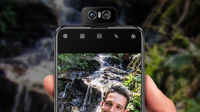 Using the rear cameras as selfie cams mean that you can now take 48 MP selfies and 13 MP ultrawides on the Zenfone 6. Stabilised 4k60 fps video is also now a possibility.