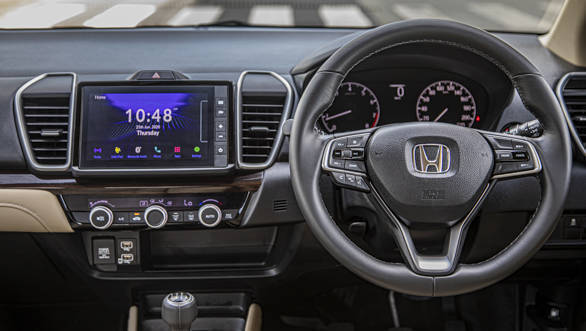2020 Honda City comes with a pre-installed infotainment system. Image: Overdrive