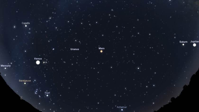 Five planets and a crescent moon will line up in a rare pre-dawn spectacle today, 20 July