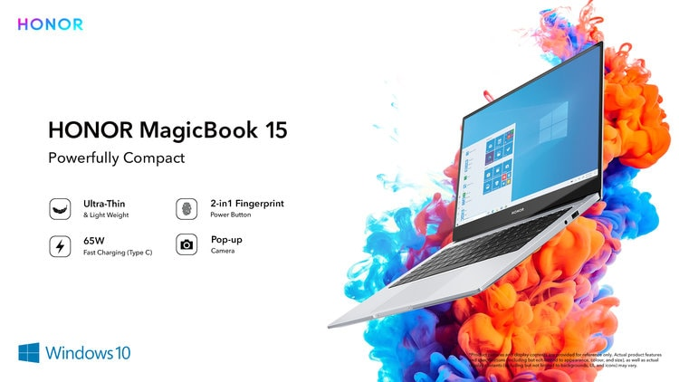 Grab the much-awaited HONOR MagicBook 15 powered with 3 breakthrough innovations at the unbeatable price of just INR 39,990*