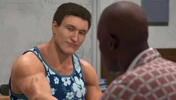Just who was the costume designer on this one? Screen grab from NBA2K21