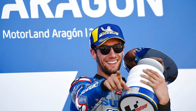 Aragon MotoGP 2020: Alex Rins wins thriller as Joan Mir takes championship lead