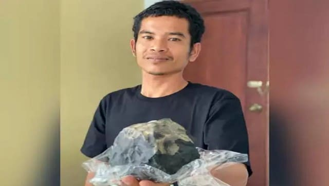 Indonesian man becomes overnight millionaire after meteorite crashes through his roof