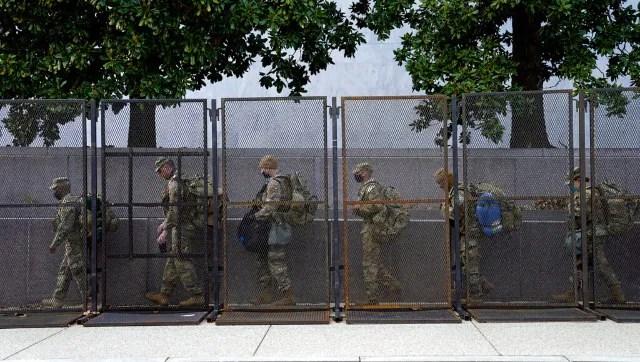 US National Guard troops pour into Washington days before Joe Biden's inauguration