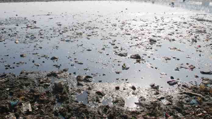 Yamuna river in India is one of the most polluted rivers and about 85 percent of the pollution is caused by domestic and industrial sources. The water quality is not fit for bathing, underwater life and domestic supply. Image credit: India Water Portal/Flickr