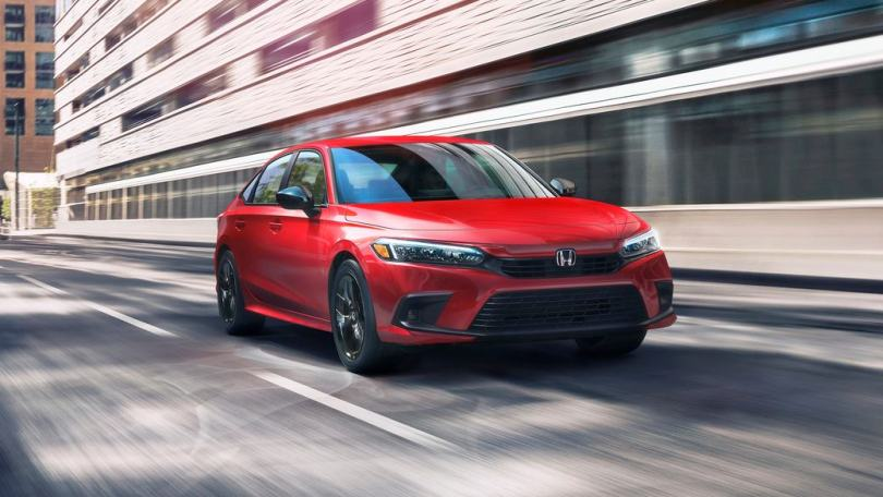 The 2022 Honda Civic opts for cleaner surfacing and a more mature look overall. Image: Honda