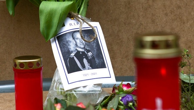 Prince Philip's funeral on 17 April; gun salutes mark start of eight-day national mourning in UK