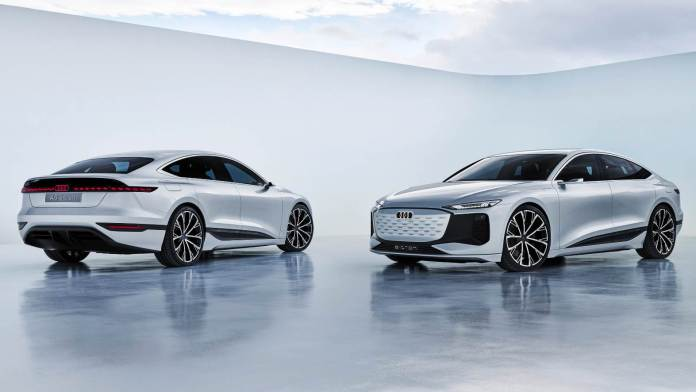 The production version of the Audi A6 e-tron concept is expected to arrive in 2023. Image: Audi