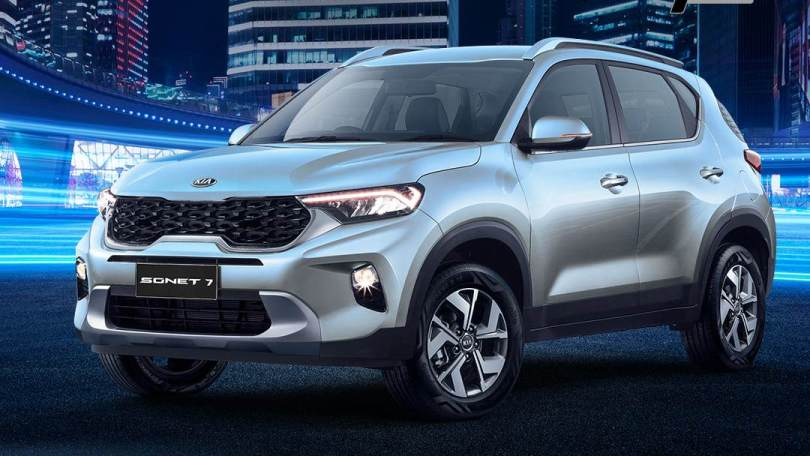 Kia Sonet 7 seater debuts in Indonesia: Gets third row of seats, roof-mounted AC blower