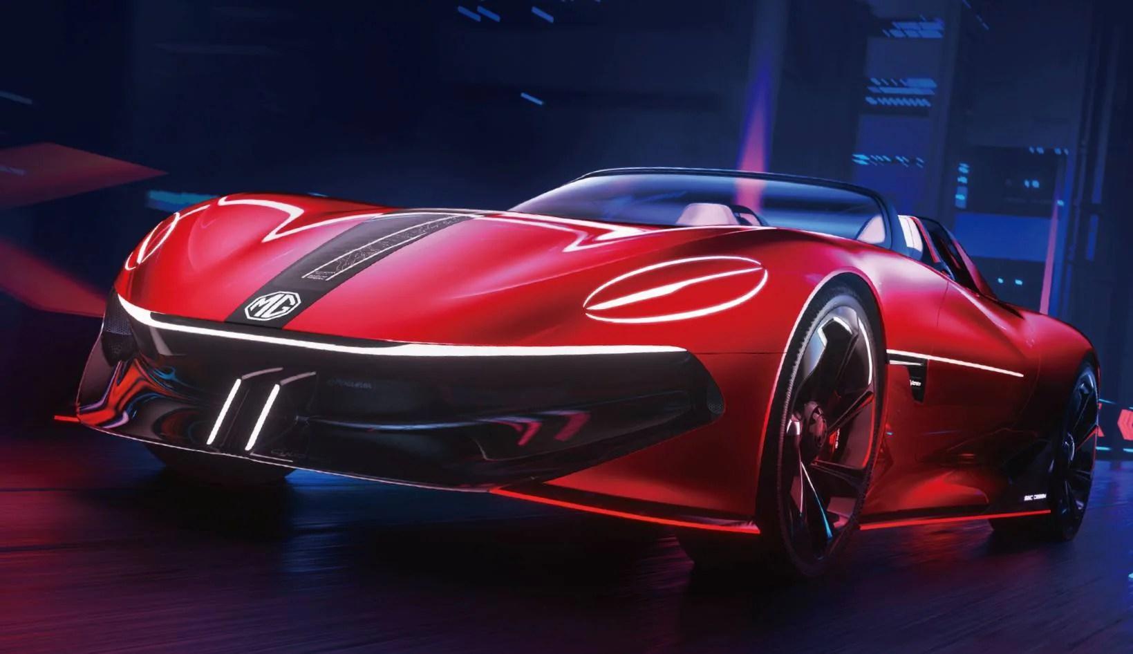 MG Cyberster concept previews 5G-ready electric sportscar with 800-kilometre range- Technology News, Gadgetclock