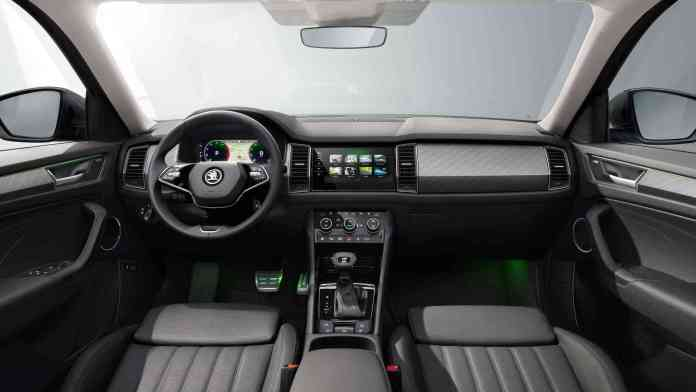 Front seats of the 2021 Skoda Kodiaq L&K feature ventilation and massage functions. Image: Skoda