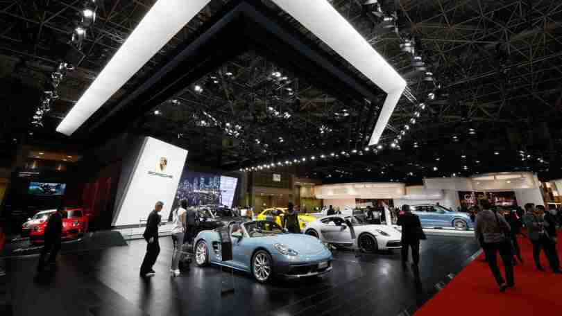 The decision to call off the 2021 Tokyo motor show comes at a time when Japan has announced a three-week state of emergency in four prefectures. Image: Newspress
