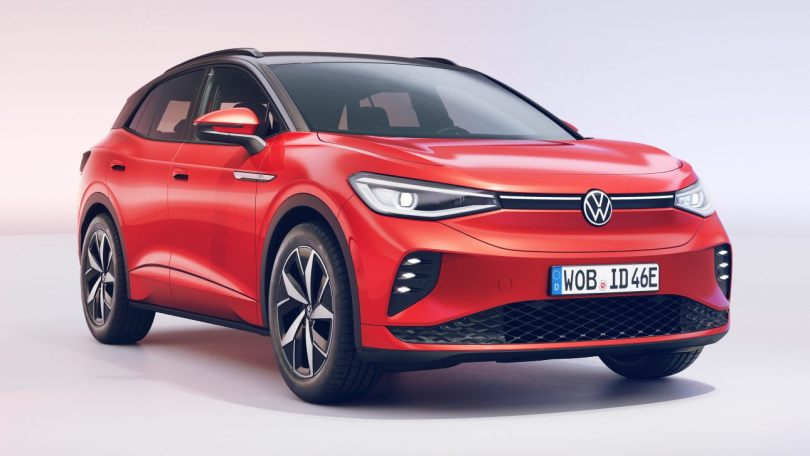 At 125 kW charge rates, the ID.4 GTX can gain roughly 300 km of driving range with just a 10-minute charge. Image: Volkswagen