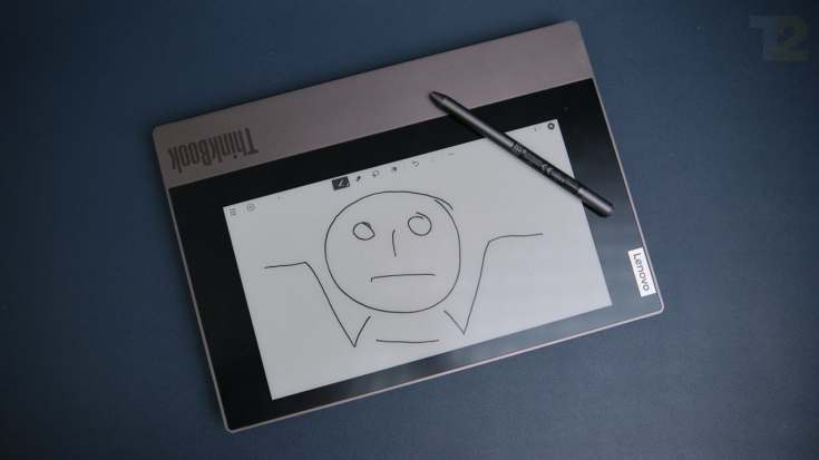 I like the idea of an e-ink display... on a Kindle. I'm not sure what purpose it serves on the lid of a laptop. Image: Anirudh Regidi