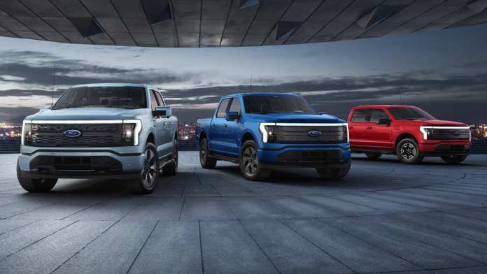 The F-150 Lightning is based on the 14th-generation Ford F-150, which continues to dominate the pickup truck segment in the US. Image: Ford