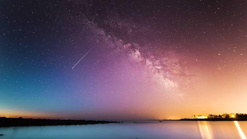 A starry night.